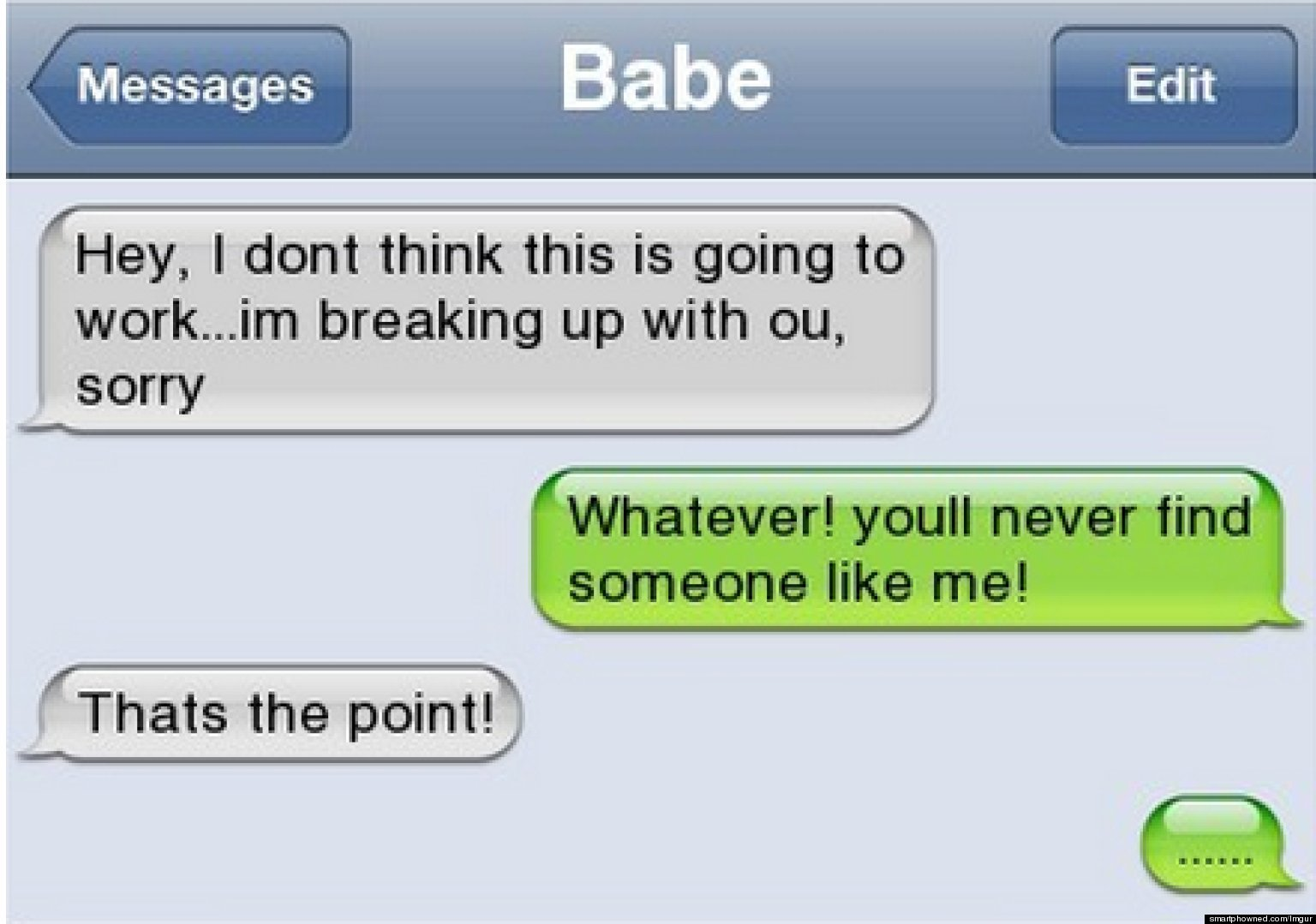 With message boyfriend your to break how text up over How To